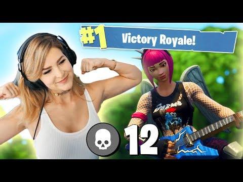 12 KILL SOLO WIN! (Fortnite: Battle Royale) | KittyPlays