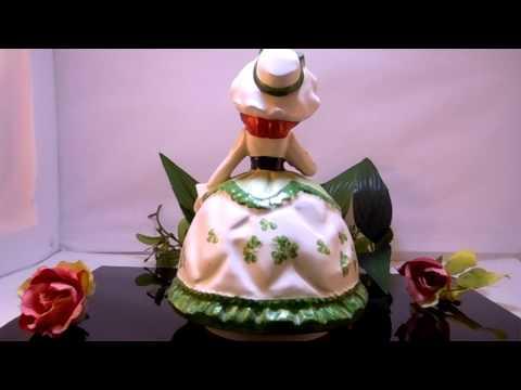 Antique Music Porcelain Doll