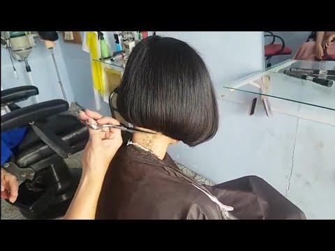 Cắt tóc nữ  ngan đổ đơn giản dễ hiểu