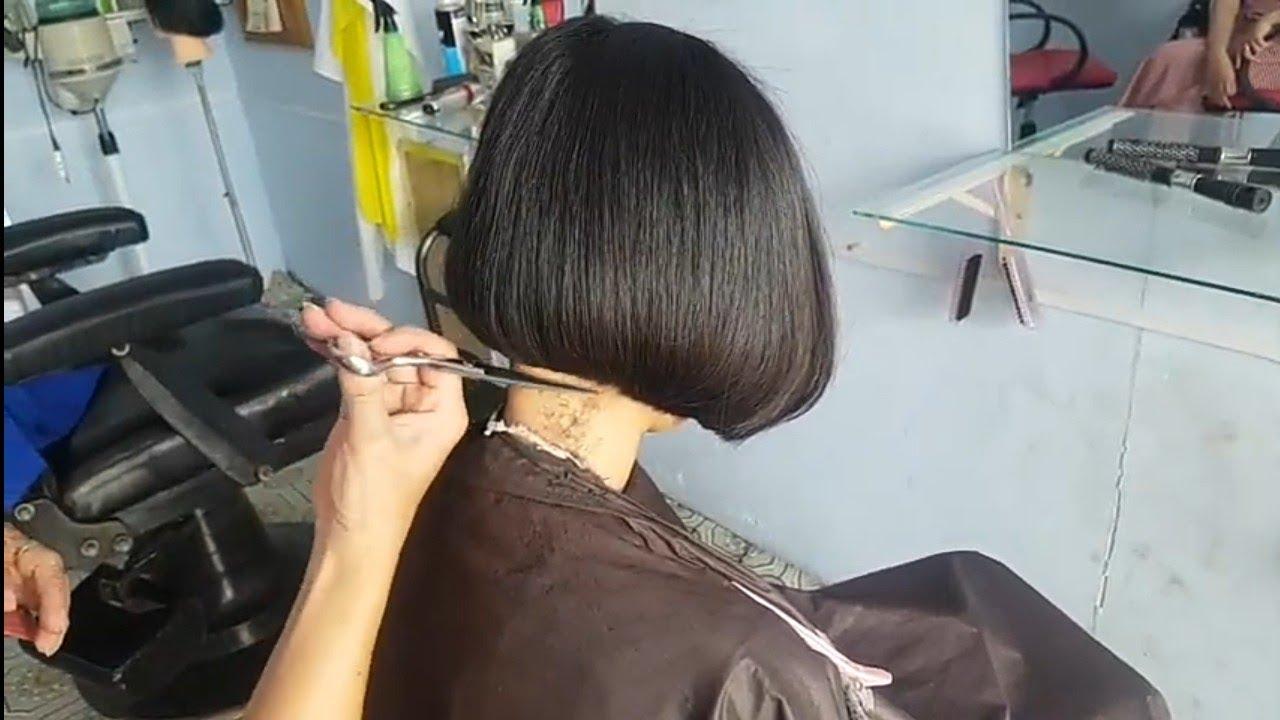 Cắt tóc nữ  ngan đổ đơn giản dễ hiểu | Tổng hợp những kiểu tóc nữ đẹp mới nhất