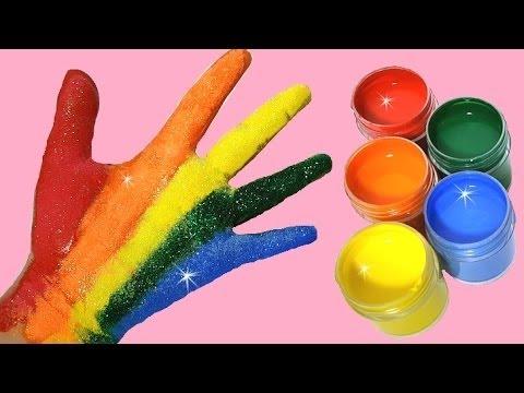 je peins mes mains peinture couleurs pour enfants youtube. Black Bedroom Furniture Sets. Home Design Ideas