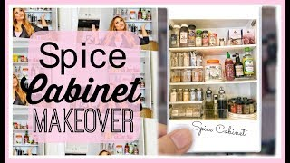 Spice Cabinet Organization Makeover