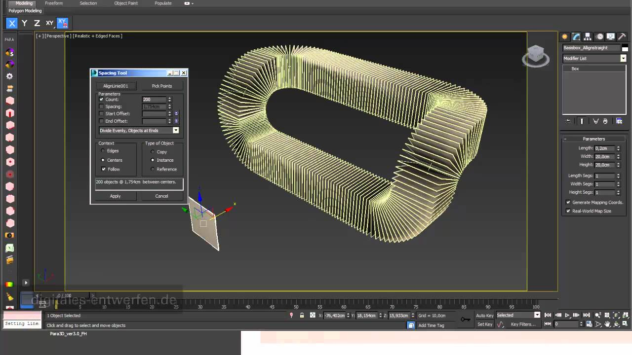 Sectioning 02 arrays following a path in 3ds max  YouTube