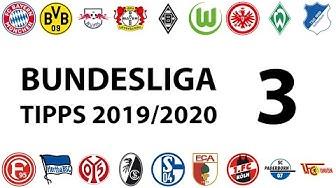 Bundesligatipps 3.Spieltag 2019/2020