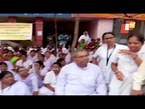 Para Medical Staff & Nurse of Bhim Bhoi Medical College Begin Strike