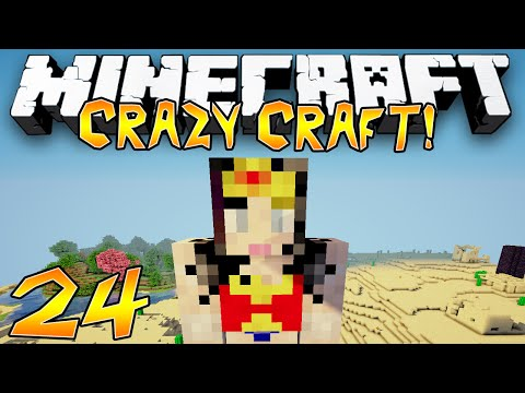 """I'M A GIRL?!"" - Crazy Craft 2.1 (Minecraft Modded Survival) - #24"