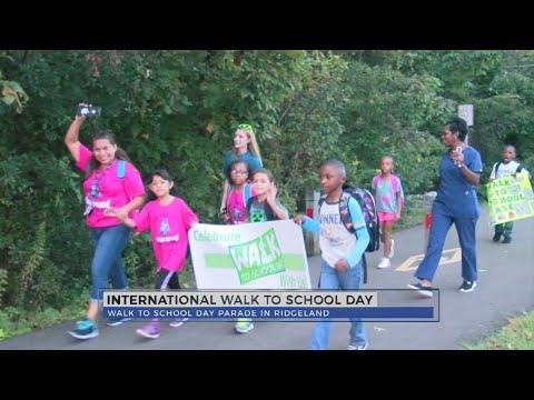 Ann Smith Elementary School celebrates International Walk to School Day