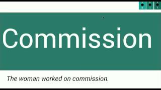 Learn American English: Commission