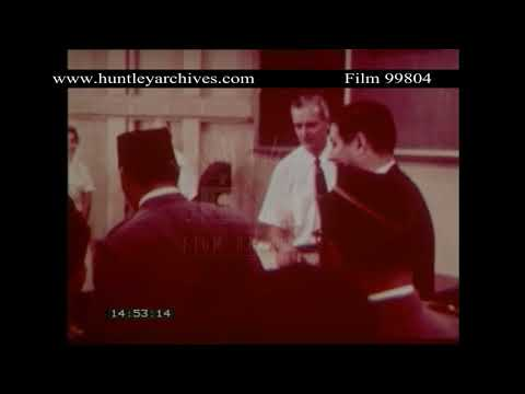 President Sukarno visits the SS Hope in Indonesia, 1960.  Archive film 99804