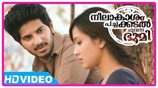 Neelakasham Pachakadal Chuvanna Bhoomi Movie | Scenes | Dulquer invites Surja Bala to his home