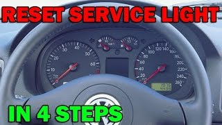 How to reset service light / oil service VW Golf Mk4 in 4 simple steps