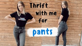 Thrift with me for PANTS | every single rack & section