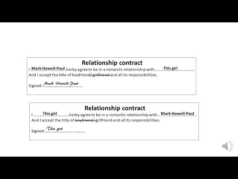 I Signed A Relationship Contract With My GF Then This Happened...|StoryTime