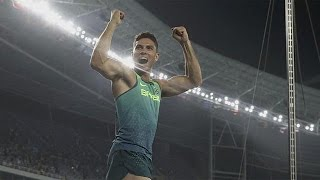 Brazil scales the heights of happiness winning Olympic gold in the pole vault