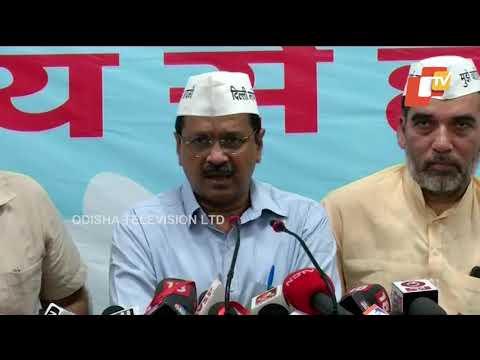 Delhi CM Arvind Kejriwal addresses AAP meeting