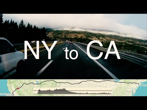 NY to CA - full cross country drive ending in snow storm (map, elevation & tips )