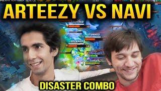 ARTEEZY vs NAVI: SumaiL SandKing Disaster 4 man Stunt Dota 2 7.10