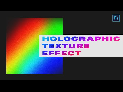 How To Create Holographic Foil Texture In Photoshop