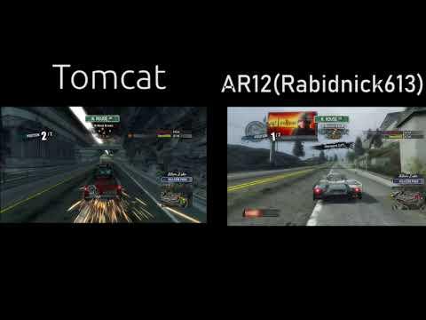 Burnout Paradise Multiplayer TC9700 VS AR12 Gaming Splitscreen