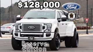 STUNNING 2020 Ford F450 Platinum Reserve Edition Leveled on 37s Stormtrooper American Force Truck