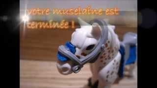 Tuto: comment faire des guètres,un tapis de selle et une muselaine pour chevaux playmobil