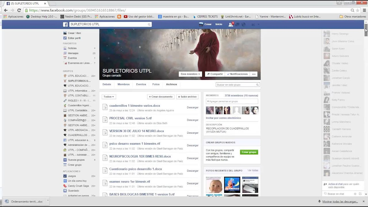 Como buscar archivos subidos a un grupo de facebook youtube for Grupo facebook
