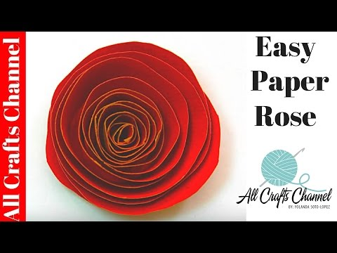 How To Make An Easy Paper Rose