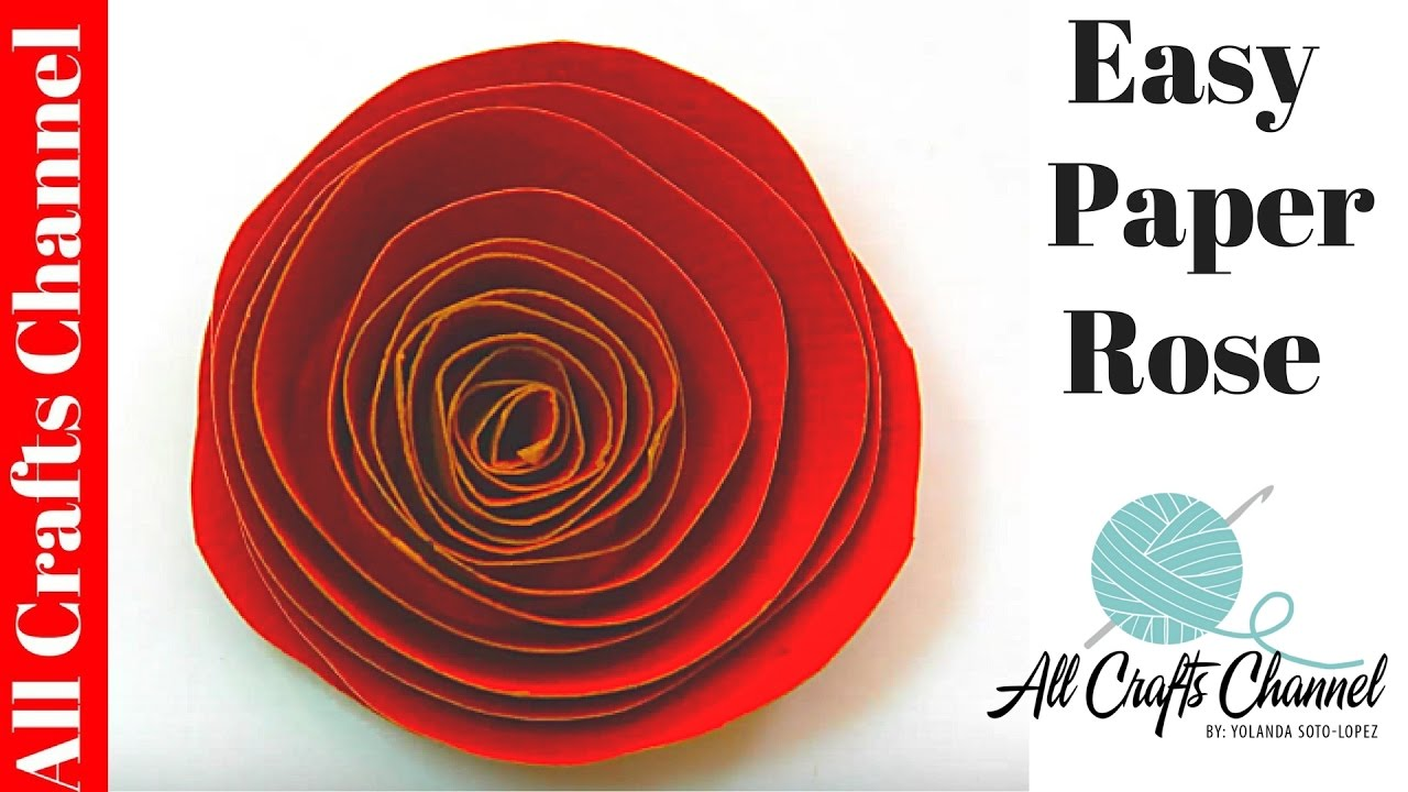 How to make an easy paper rose youtube how to make an easy paper rose dhlflorist Image collections