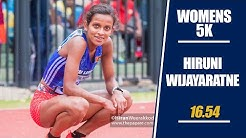 🇱🇰 Hiruni claims 2nd Gold in Women's 5k 🥇