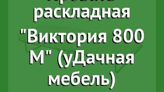 Кровать раскладная Виктория 800 М (уДачная мебель) обзор УДЧМ0006 производитель Даметекс (Россия)