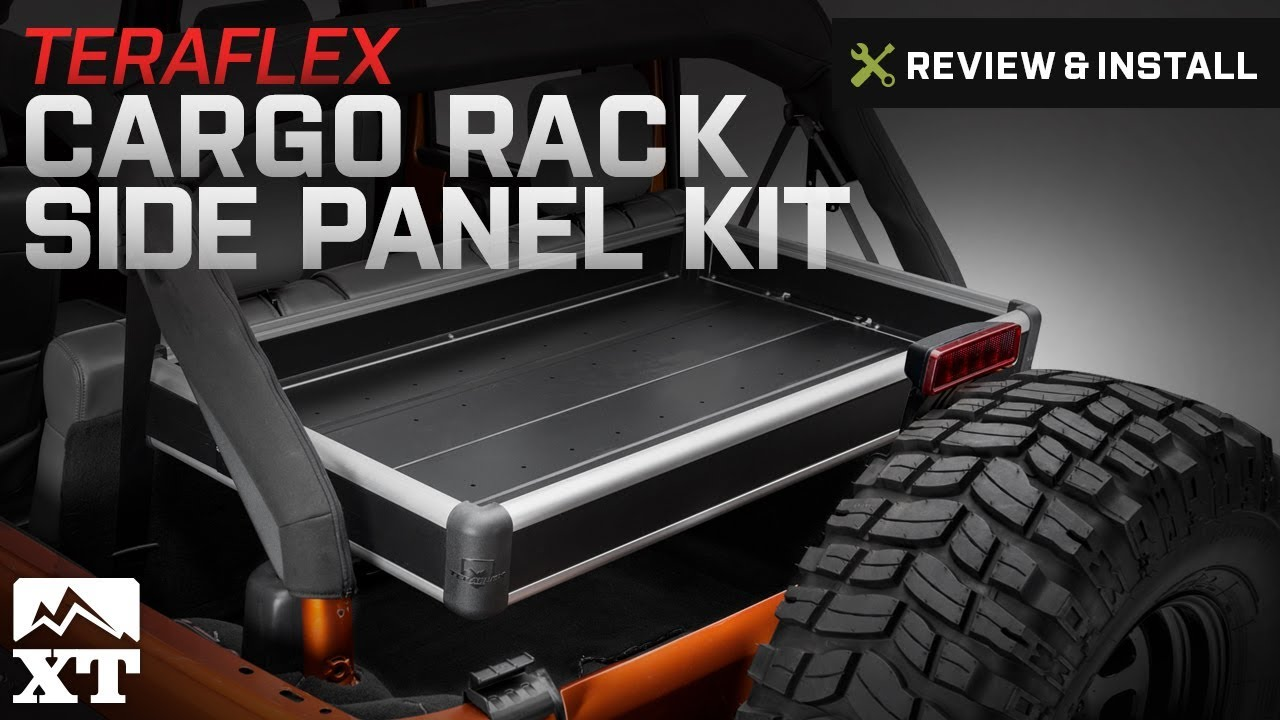Jeep Wrangler Teraflex Rear Cargo Rack Side Panel Kit