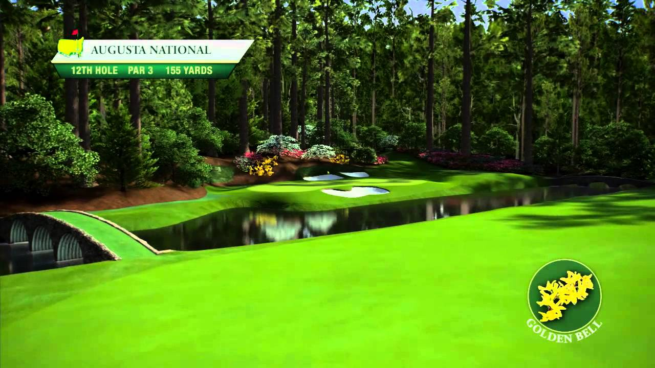 Course flyover augusta national golf club 39 s 12th hole for Augusta national wall mural