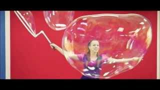 Шоу гигантских мыльных пузырей Иркутск промо