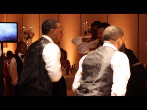 Alpha Phi Alpha Step at Wedding
