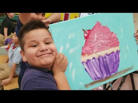 Edison Bethune Charter Academy first and second graders painted the Cupcake
