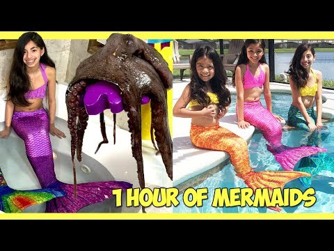 Fin Fun MERMAID CHALLENGES! | KidToyTesters over 1 hour of Mermaids Swimming