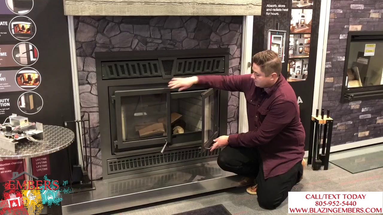 Osburn Horizon Wood Burning Fireplace Large Product Review Youtube