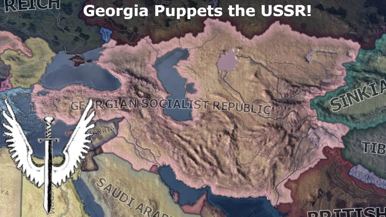 Georgia Puppets The USSR Hoi SpeedrunTimelapse YouTube - Georgia map ussr