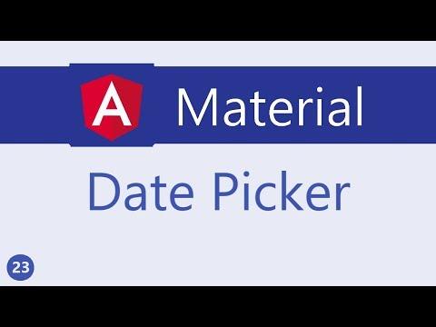 Angular Material Tutorial - 23 - Date Picker - YouTube
