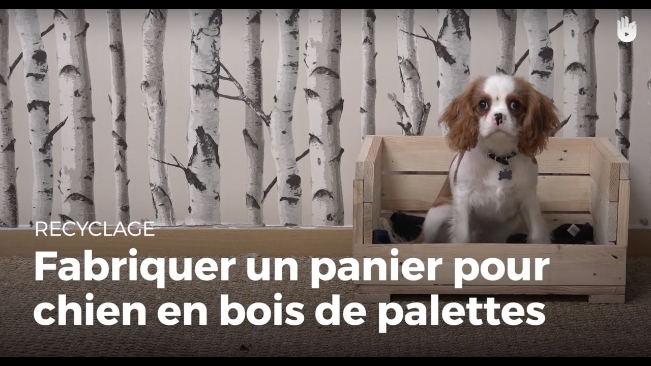 fabriquer un panier chien en bois de palette recycler youtube. Black Bedroom Furniture Sets. Home Design Ideas