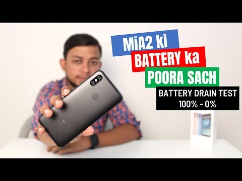 Mi A2 Battery Drain Test  Battery Review