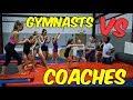 Gymnast VS Coach Stick it Gymnastics Challenge  Rachel Marie