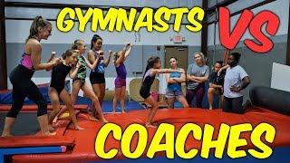 Gymnast VS Coach Stick it Gymnastics Challenge| Rachel Marie