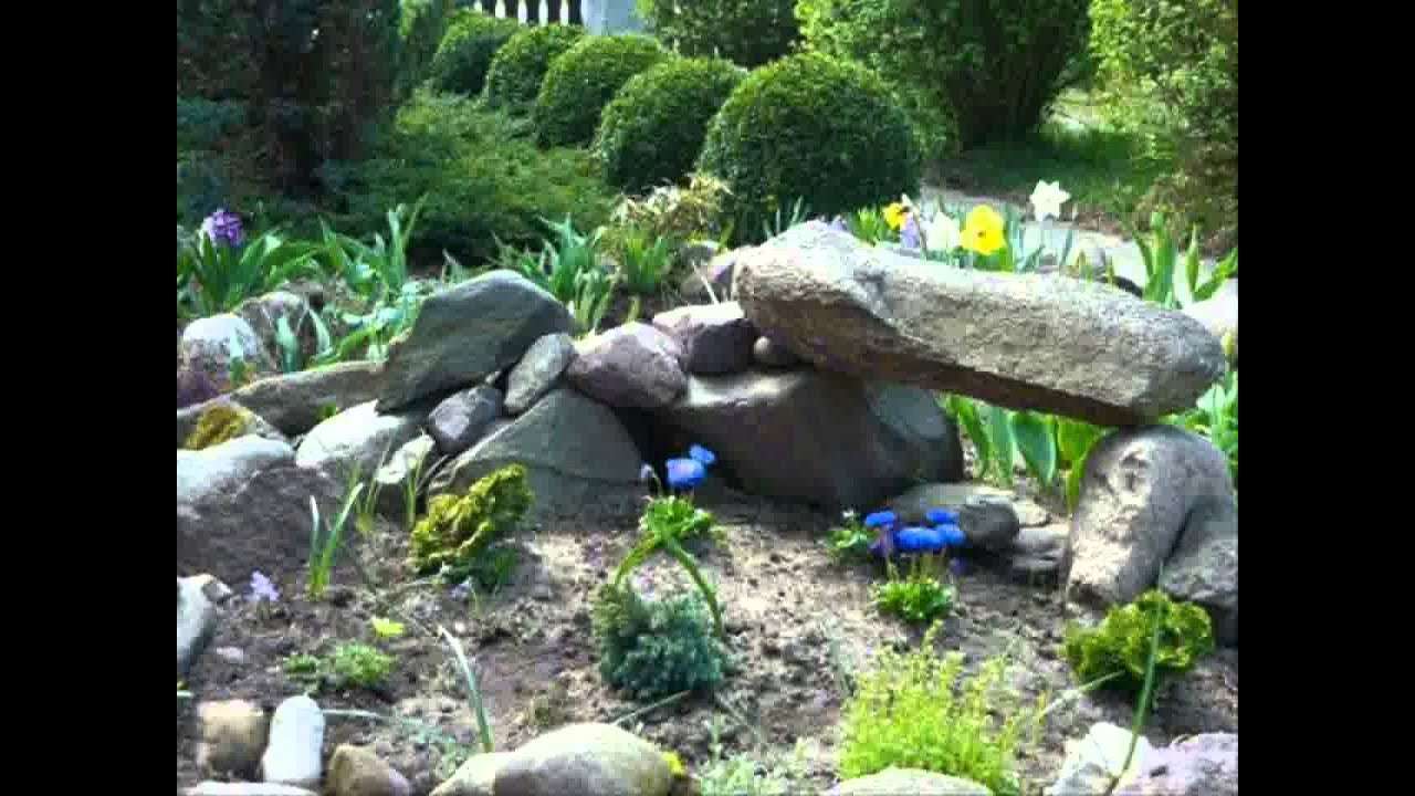 Small space rock garden ideas youtube for Rockery designs for small gardens