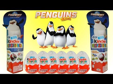 8 киндеры сюрпризы Пингвины Мадагаскара на русском языке коллекция 2014