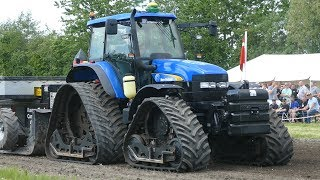 New Holland TM155 w/ Tracks Pulling The Heavy Sledge at Aabybro Pulling Arena | Tractor Pulling DK
