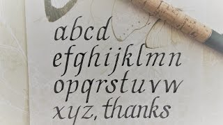 how to write in calligraphy - italic letters for beginners =)