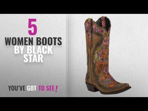 2836db36e56 Top 10 Black Star Women Boots [2018]: Black Star SWEETGRASS (Tan ...