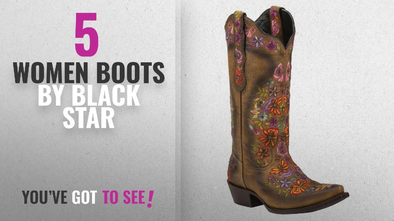 6a58d6b6fcb Top 10 Black Star Women Boots [2018]: Black Star SWEETGRASS  (Tan/Multicolored) Women's Cowboy Boots
