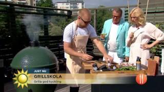 Grillskola: Tänd grillen på bästa sätt  - Nyhetsmorgon (TV4)